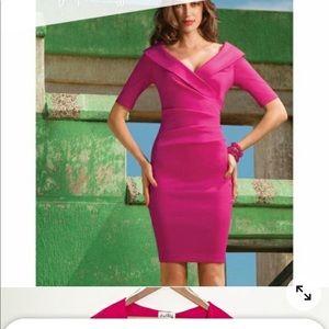 Joseph Ribkoff Pink Off the Shoulders Dress